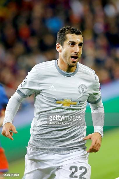 Henrikh Mkhitaryan of Manchester United is seen during the UEFA Champions League match between CSKA Moscow and Manchester United at VEB Arena in...