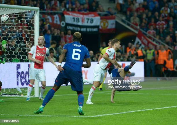 Henrikh Mkhitaryan of Manchester United scores the second goal during the UEFA Europa League final between Ajax and Manchester United at the Friends...