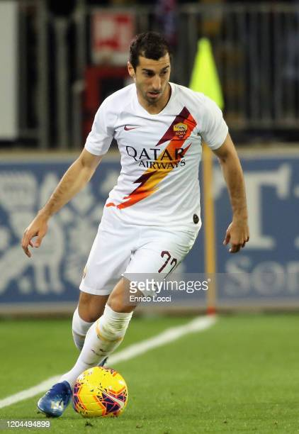 Henrikh Mkhitaryan of Roma in action during the Serie A match between Cagliari Calcio and AS Roma at Sardegna Arena on March 1 2020 in Cagliari Italy