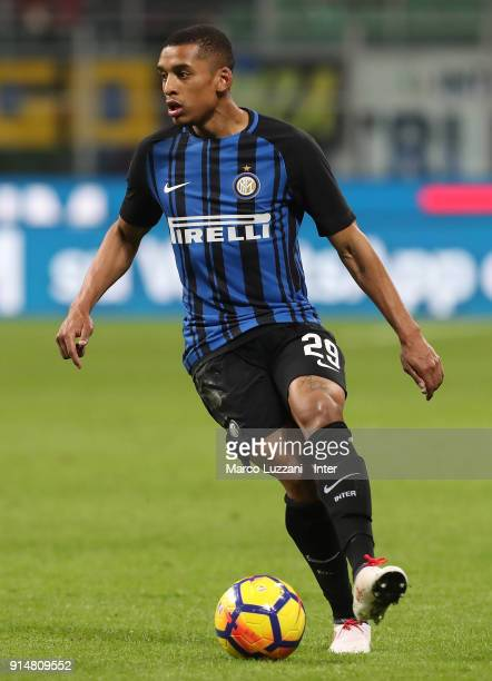 Henrique Dalbert of FC Internazionale in action during the serie A match between FC Internazionale and FC Crotone at Stadio Giuseppe Meazza on...