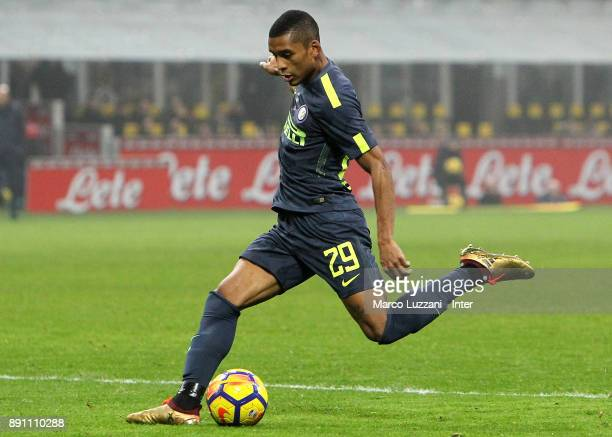 Henrique Dalbert of FC Internazionale in action during the TIM Cup match between FC Internazionale and Pordenone at Stadio Giuseppe Meazza on...