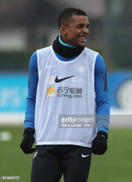 Henrique Dalbert of FC Internazionale looks on during the FC Internazionale training session at the club's training ground Suning Training Center in...