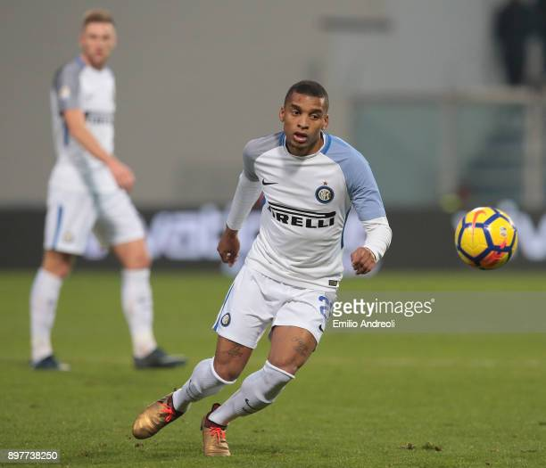 Henrique Dalbert of FC Internazionale Milano in action during the serie A match between US Sassuolo and FC Internazionale at Mapei Stadium Citta' del...