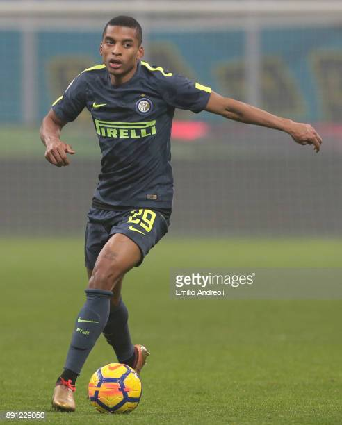 Henrique Dalbert of FC Internazionale Milano in action during the TIM Cup match between FC Internazionale and Pordenone at Stadio Giuseppe Meazza on...