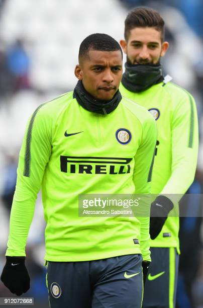 Henrique Dalbert of FC Internazionale warms up before the serie A match between Spal and FC Internazionale at Stadio Paolo Mazza on January 28 2018...