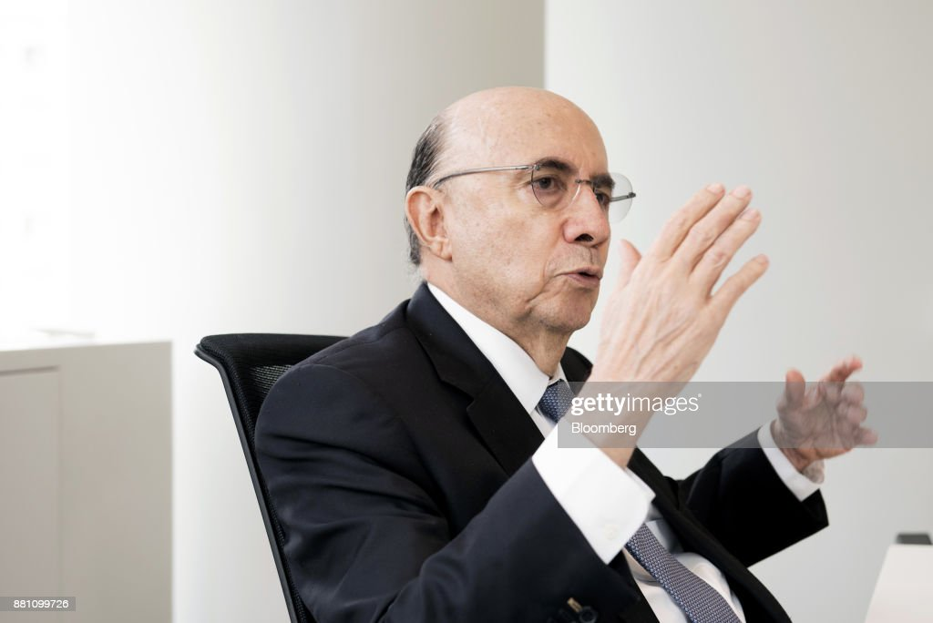 Henrique Meirelles, Brazil's minister of finance, speaks during an interview in Sao Paulo, Brazil, on Monday, Nov. 27, 2017. Brazil's recovery from its deepest recession ever picked up in the third quarter and requires no more stimulus, Meirelles said. Photographer: Tommaso Rada/Bloomberg via Getty Images