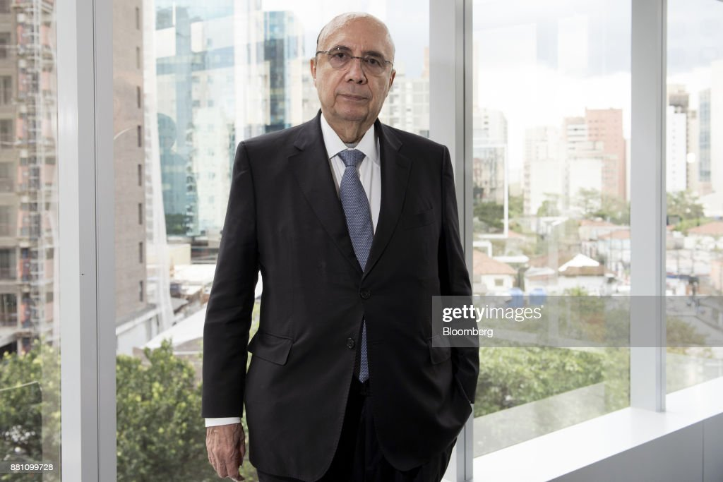 Henrique Meirelles, Brazil's minister of finance, stands for a photograph following an interview in Sao Paulo, Brazil, on Monday, Nov. 27, 2017. Brazil's recovery from its deepest recession ever picked up in the third quarter and requires no more stimulus, Meirelles said. Photographer: Tommaso Rada/Bloomberg via Getty Images