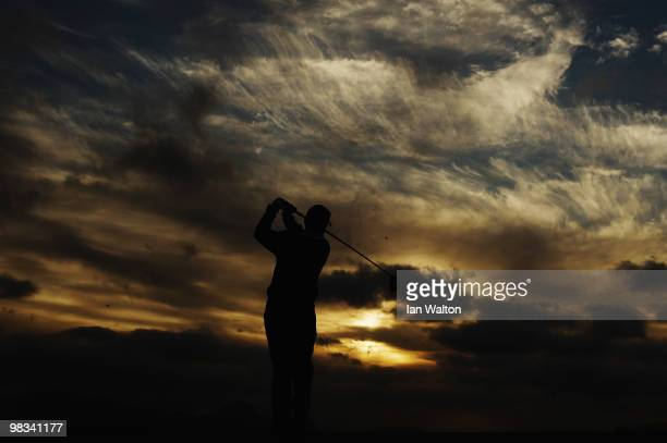 Henrique Paulino of Portugal in action during the 2nd round of the Madeira Islands Open at the Porto Santo golf club on April 9 2010 in Porto Santo...