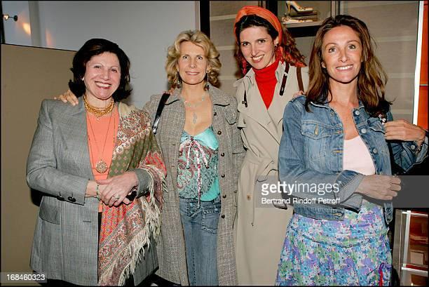 Henritette Asch Mrs Alain Flammarion Florine Asch and Jacqueline Ternier David at Book Launch Of Le Style Putman At Louis Vuitton