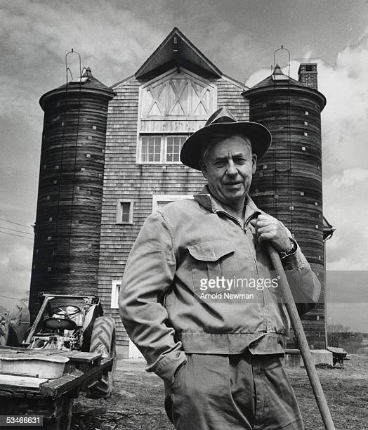 Henry A Wallace poses at his farm April 18, 1956 in South Salem, New York.