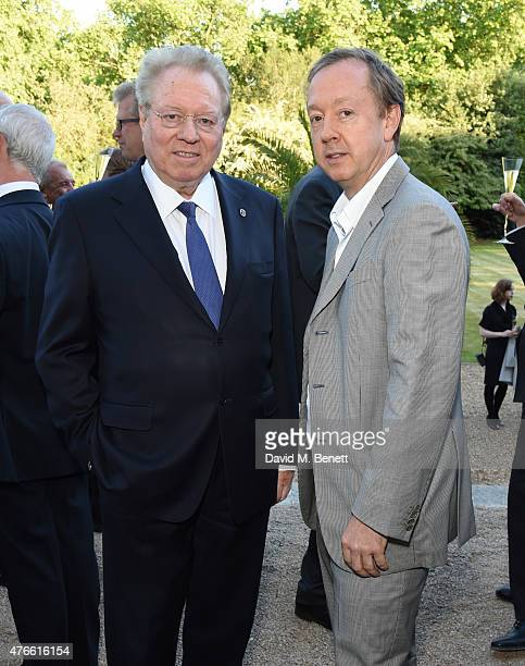 Henry Angest and Geordie Greig attend the Bell Pottinger Summer Party at Lancaster House on June 10 2015 in London England