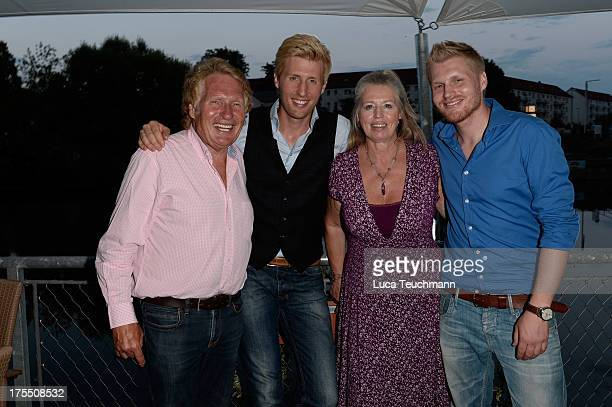 Henry Arland Maxi Arland Dorothea Zepmeisel and Hansi Arland attend tehe 20 Years Maxi Arland Charity Concert for SOSKinderdorf eV at Optikpark on...