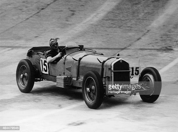 Henry Birkin in an Alfa Romeo at Brooklands Surrey 1930s He was one of the group of drivers known as the Bentley Boys who drove for Bentley Motors He...