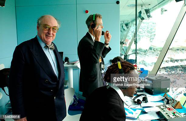 Henry Blofeld, Christopher Martin-Jenkins and Henry Olonga, England v Zimbabwe, 1st Test, Lord's, May 03.