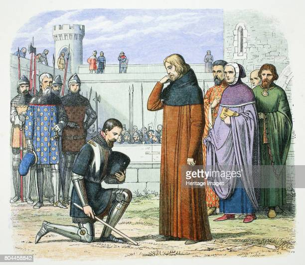 Henry Bolingbroke demanding the throne of Richard II of England Flint Wales 1399 After being banished and disinherited by the King Henry Bolingbroke...