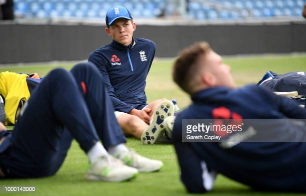 Henry Brookes of England during a net session at Headingley on July 16 2018 in Leeds England