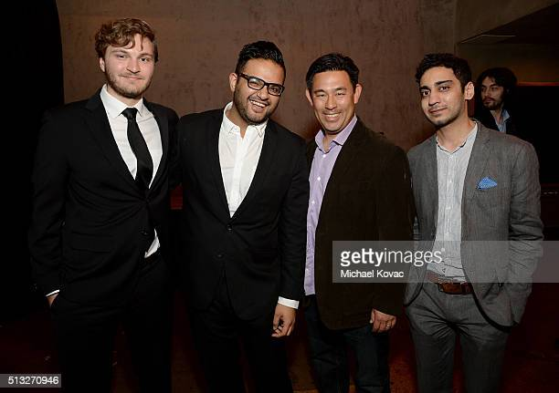 Henry Butash Rehman Ali Mark Yoshikawa and Umar Riaz attend the after party for the Los Angeles Premiere Of Broad Green Pictures' Knight Of Cups on...