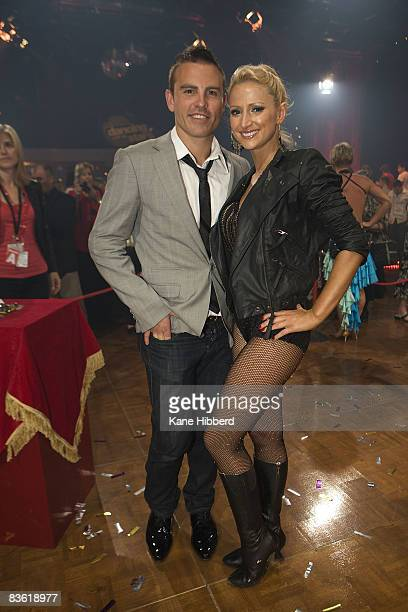 Henry Byalikov and Eliza Campagna at the grand final event for Dancing With The Stars 2008 at the Channel Seven studios on November 8 2008 in...