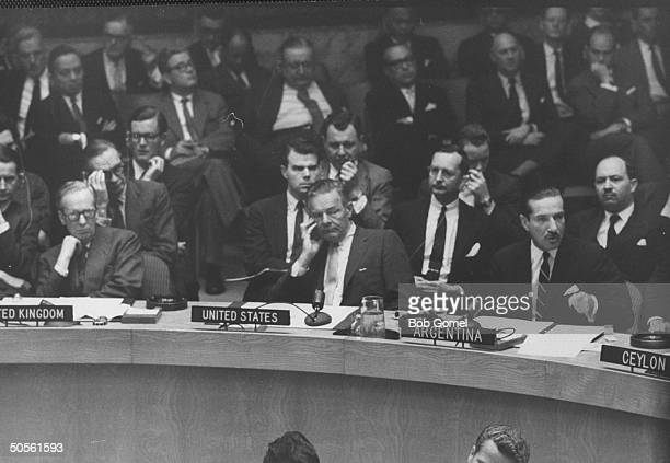 Henry Cabot Lodge Jr at United Nation meeting re Eichmann case involving Argentina and Israel