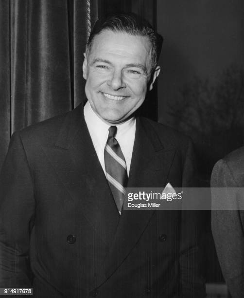 Henry Cabot Lodge Jr the United States Ambassador to the United Nations visits the Foreign Office in London 22nd February 1955 He is in London for...