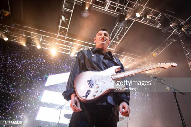 Henry Camamile of Sea Girls performs at O2 Academy Leeds on October 20, 2021 in Leeds, England.