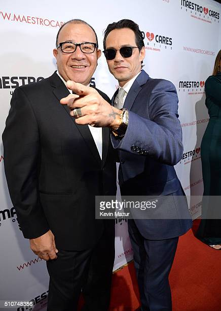 Henry Cardenas and Marc Anthony attend Maestro Cares 'Changing Lives Building Dreams' Third Annual Gala at Cipriani Wall Street on February 16 2016...
