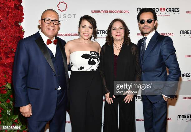 Henry Cardenas Rosal Colon Rosalba Rolon and Marc Anthony attend the Maestro Cares Foundation's fourth annual 'Changing Lives/Building Dreams' gala...