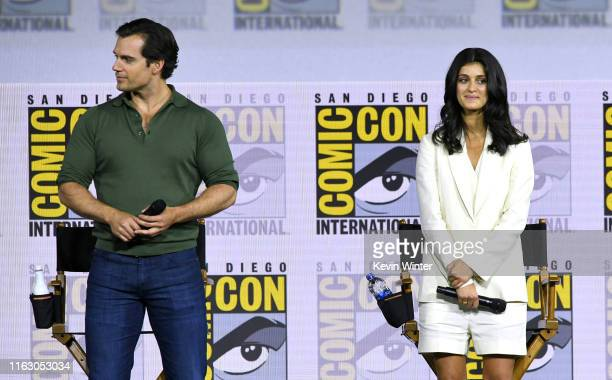Henry Cavill and Anya Chalotra speak at The Witcher A Netflix Original Series Panel during 2019 ComicCon International at San Diego Convention Center...