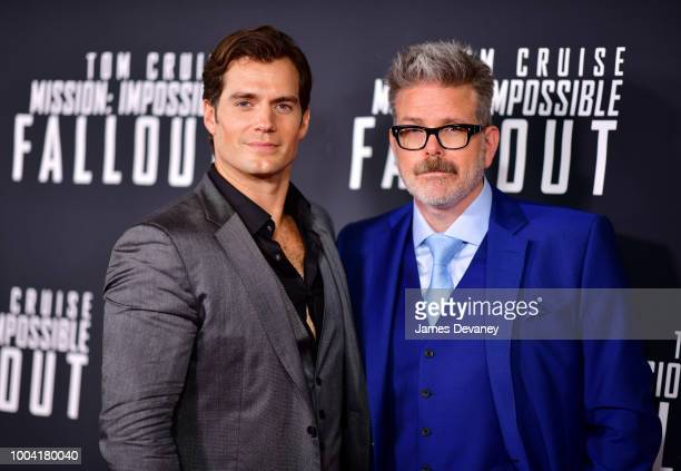 Henry Cavill and Christopher McQuarrie attend the 'Mission Impossible Fallout' US Premiere at Lockheed Martin IMAX Theater at the Smithsonian...