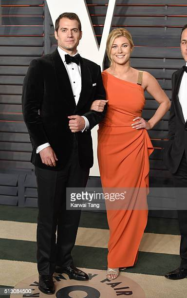 Henry Cavill and Tara King attend the 2016 Vanity Fair Oscar Party Hosted By Graydon Carter at Wallis Annenberg Center for the Performing Arts on...