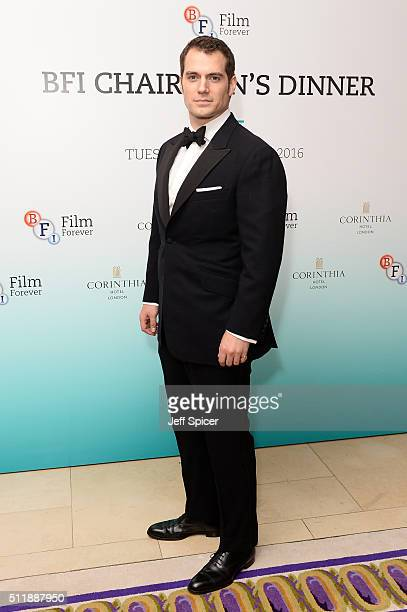 Henry Cavill arrives at the BFI Chairman's Dinner at The Corinthia Hotel on February 23 2016 in London England
