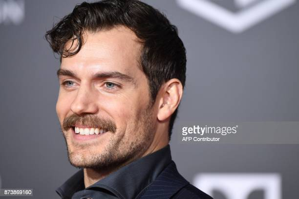 Henry Cavill arrives for the world premiere of Warner Bros Pictures' Justice League November 13 2017 at the Dolby Theater in Hollywood California /...