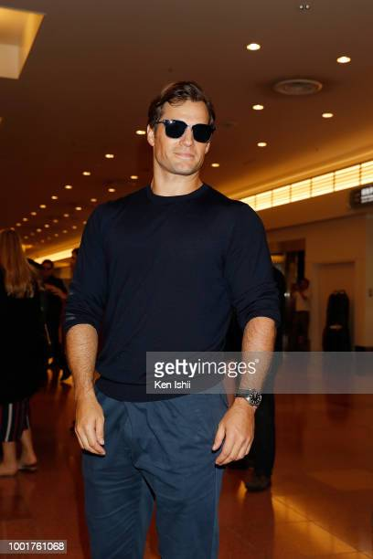 Henry Cavill arrives in support of the 'Mission: Impossible - Fallout' World Press Tour at Haneda Airport on July 17, 2018 in Tokyo, Japan.