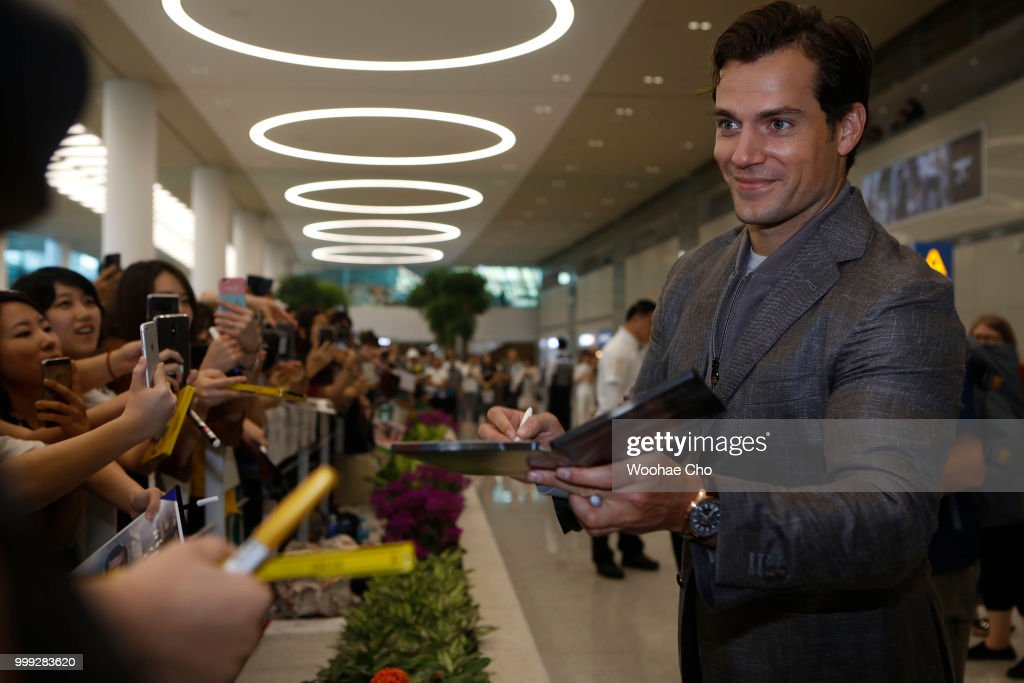Henry Cavill arrives in support of the 'Mission: Impossible - Fallout' World Press Tour at Incheon Airport on July 15, 2018 in Incheon, South Korea.