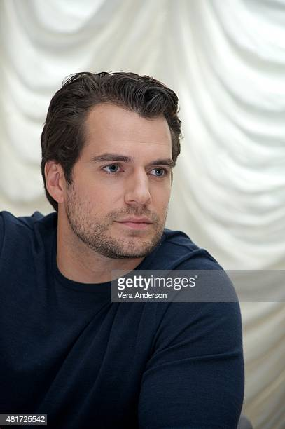 Henry Cavill at 'The Man From UNCLE' Press Conference at Claridge's Hotel on July 23 2015 in London England