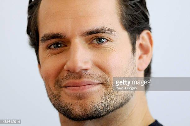 REQUIRED Henry Cavill attend 'The Man from UNCLE' photocall at Claridge's Hotel on July 23 2015 in London England