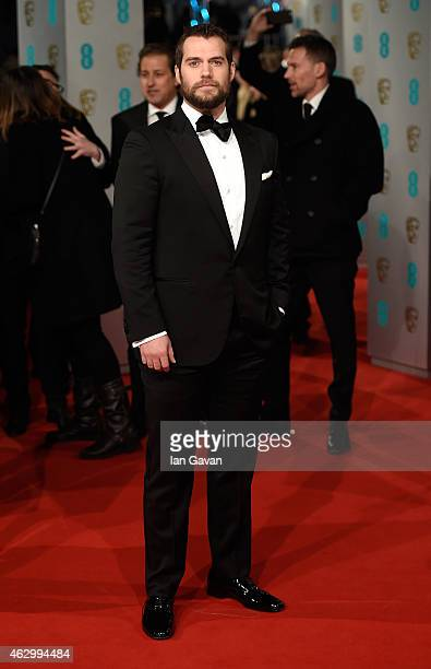 Henry Cavill attends the EE British Academy Film Awards at The Royal Opera House on February 8 2015 in London England