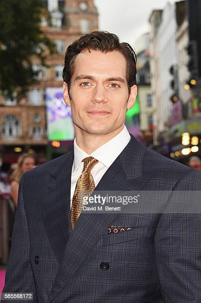 Henry Cavill attends the European Premiere of 'Suicide Squad' at Odeon Leicester Square on August 3 2016 in London England