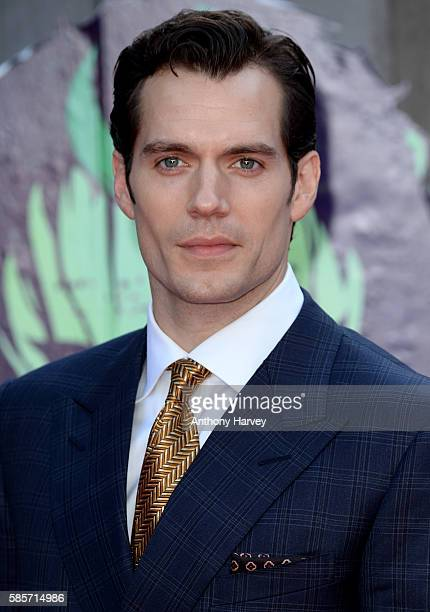 Henry Cavill attends the European Premiere of Suicide Squad at Odeon Leicester Square on August 3 2016 in London England