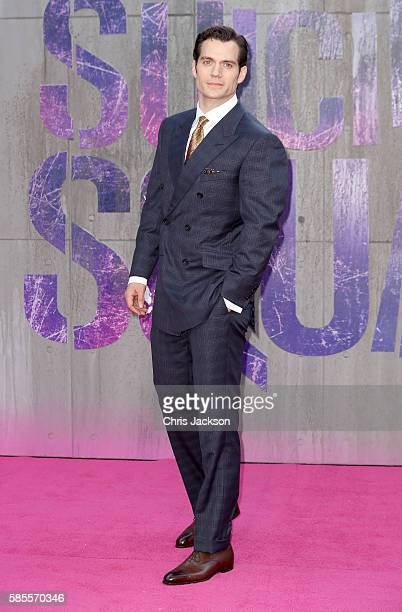 Henry Cavill attends the European Premiere of Suicide Squad at the Odeon Leicester Square on August 3 2016 in London England