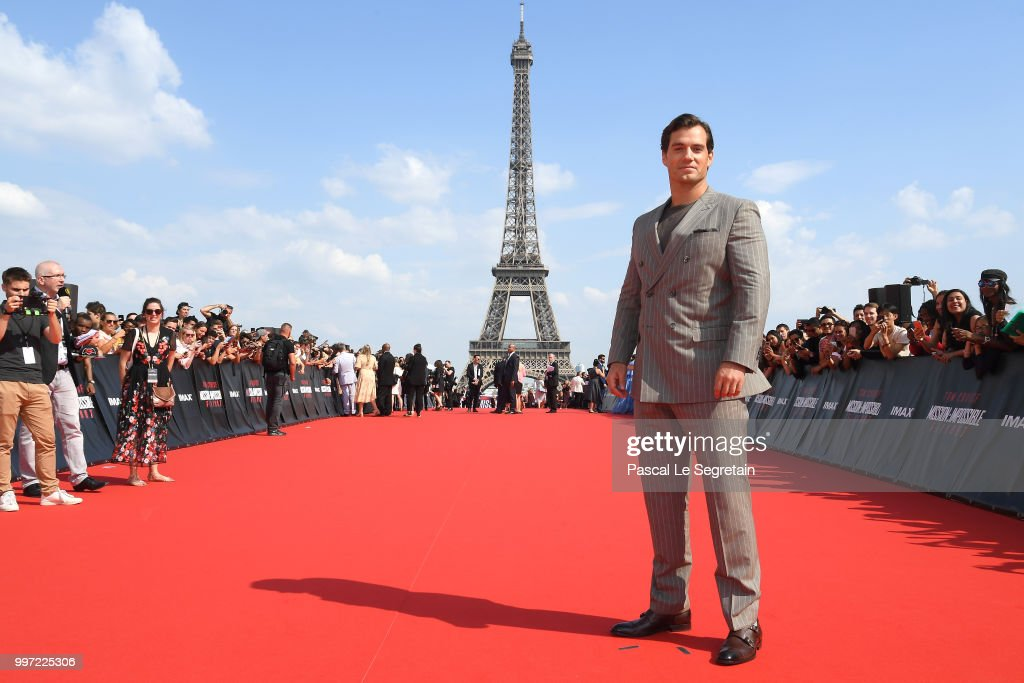 Henry Cavill attends the Global Premiere of 'Mission: Impossible - Fallout' at Palais de Chaillot on July 12, 2018 in Paris, France.