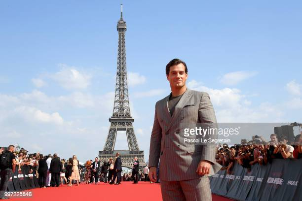 Henry Cavill attends the Global Premiere of 'Mission Impossible Fallout' at Palais de Chaillot on July 12 2018 in Paris France