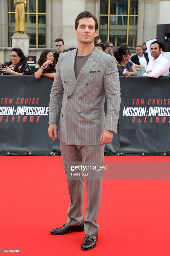 Henry Cavill attends the 'Mission: Impossible - Fallout' Global Premiere on July 12, 2018 in Paris, France.