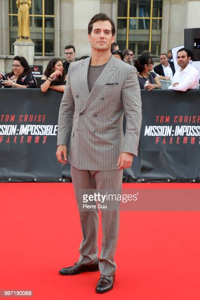 Henry Cavill attends the 'Mission Impossible Fallout' Global Premiere on July 12 2018 in Paris France