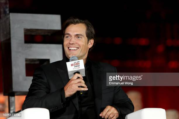 Henry Cavill attends the 'Mission: Impossible - Fallout' Press Conference at The Ancestral Temple on August 29, 2018 in Beijing, .