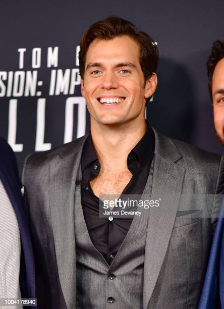 Henry Cavill attends the 'Mission Impossible Fallout' US Premiere at Lockheed Martin IMAX Theater at the Smithsonian National Air Space Museum on...