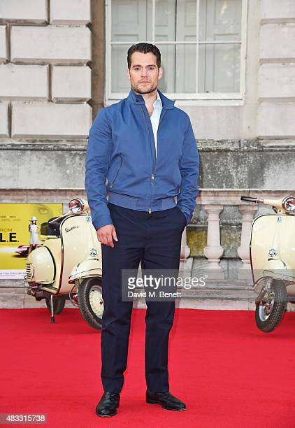 Henry Cavill attends the people's premiere of 'The Man From UNCLE' during Film4 Summer Screenings at Somerset House on August 7 2015 in London England