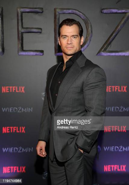 Henry Cavill attends the premiere of the Netflix series The Witcher on December 18 2019 in Warsaw Poland