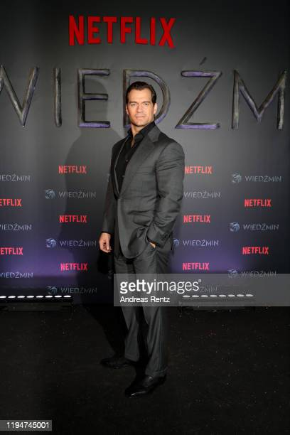 "Henry Cavill attends the premiere of the Netflix series ""The Witcher"" on December 18, 2019 in Warsaw, Poland."