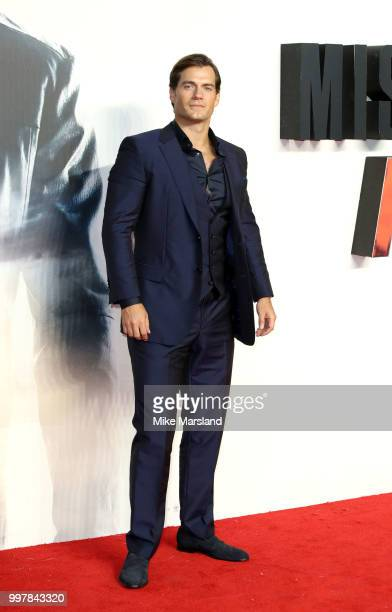 Henry Cavill attends the UK Premiere of Mission Impossible Fallout at BFI IMAX on July 13 2018 in London England